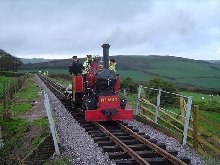 Bronllwyd makes an appearance after passenger trains - the first steam loco onto the new line