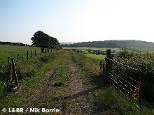 The view looking down the trackbed towards Killington Lane, taken near Bridge 67