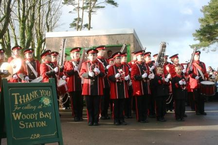 Axe - The Barnstaple Youth Band played stirring music