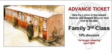 L&BR Advance Ticket - Family - Third Class